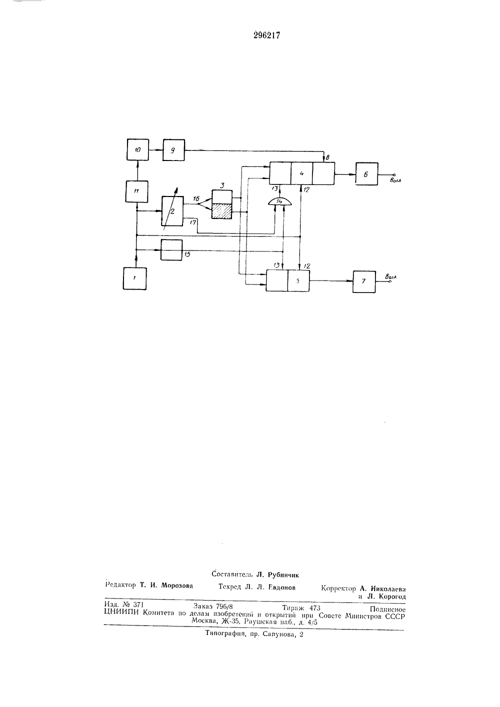 схема управления фазоимпульсного генератора