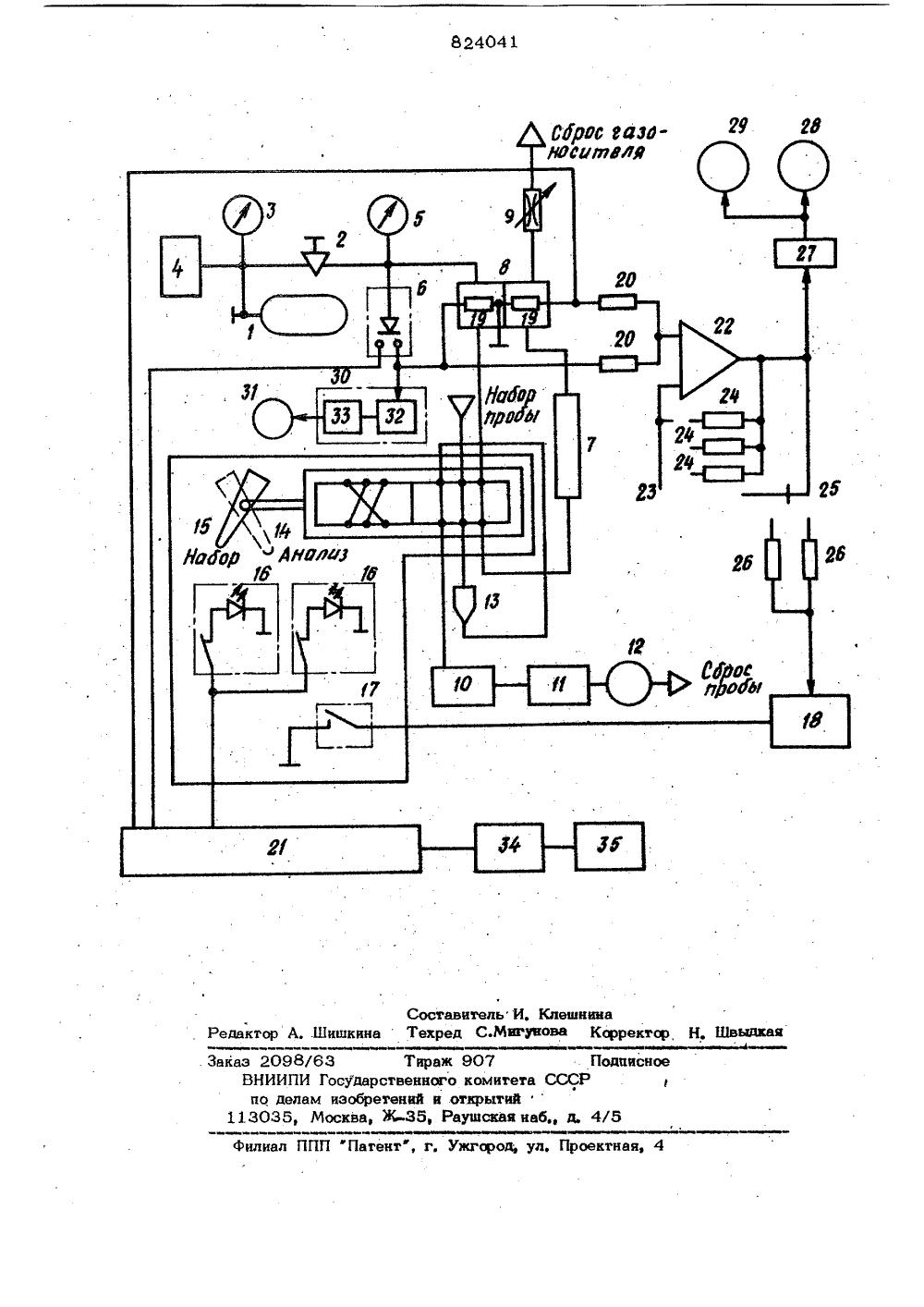 схема работы газового хроматографа