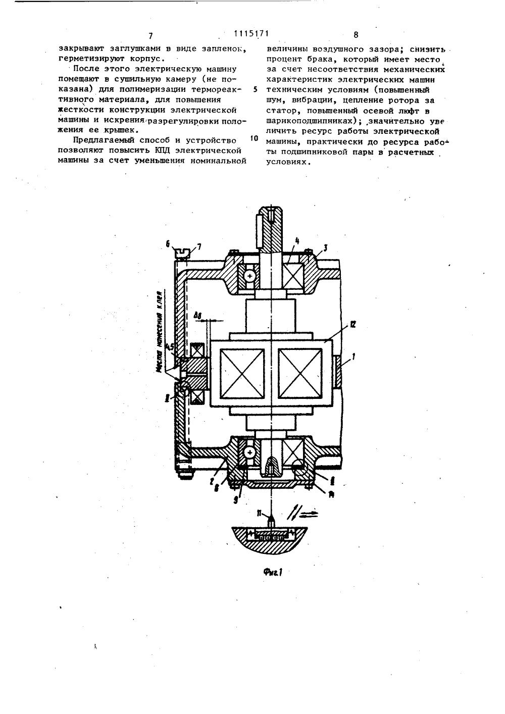 измерение зазоров между сталью ротора и статора директора компании иных