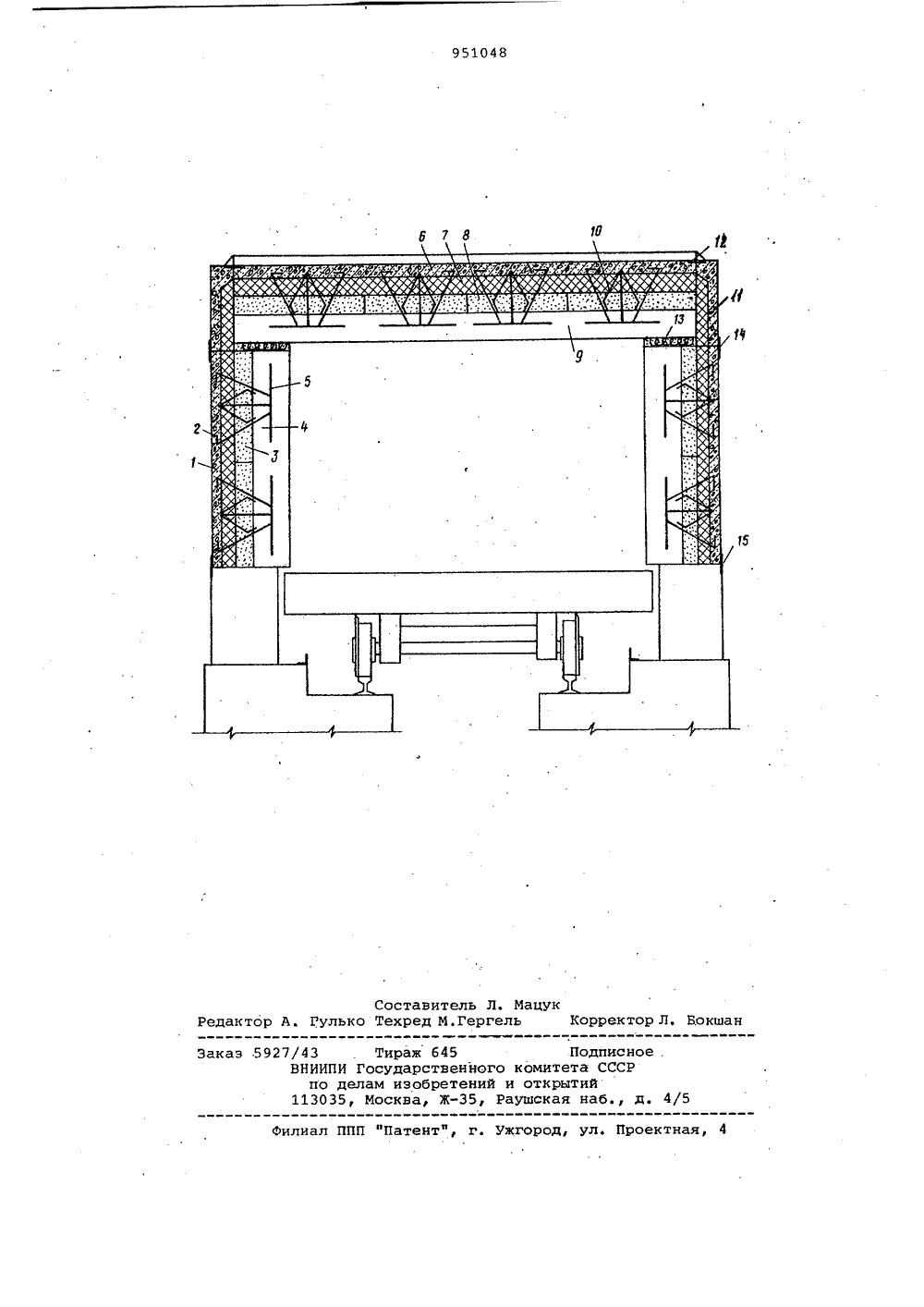 печь тоннельная схема