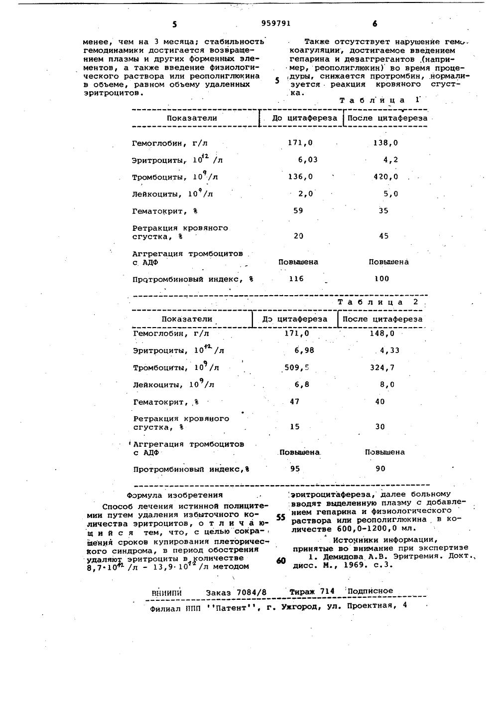Полицитемия истинная — описание, симптомы (признаки), лечение
