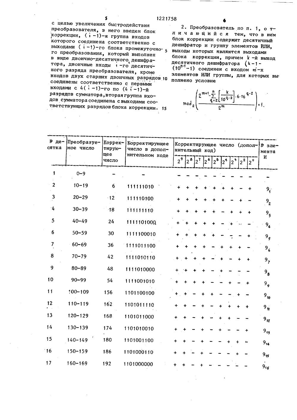 двоично-десятичный дешифратор схема