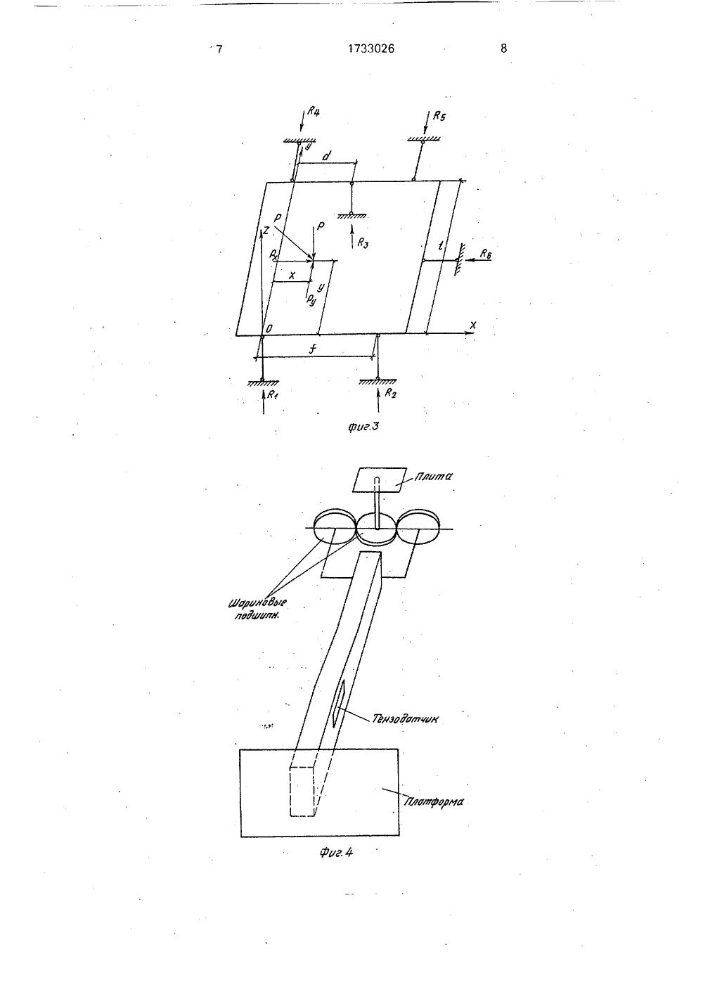 Методика измерений опорных нагрузок динамометрами